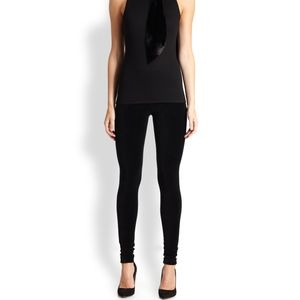 Ralph Lauren Black Label Black Velvet Leggings